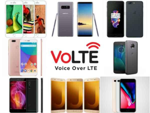 smartphones compatibles VoLTE